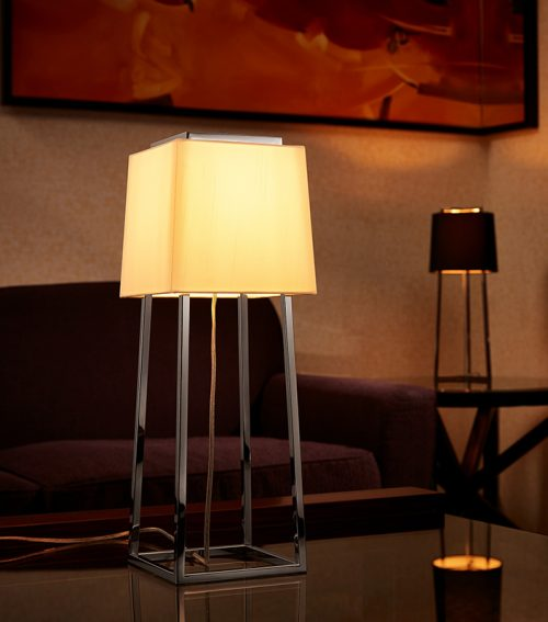 Cape Square Table Lamp with Shade