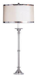 Cavendish Silver Table Lamp with Shade