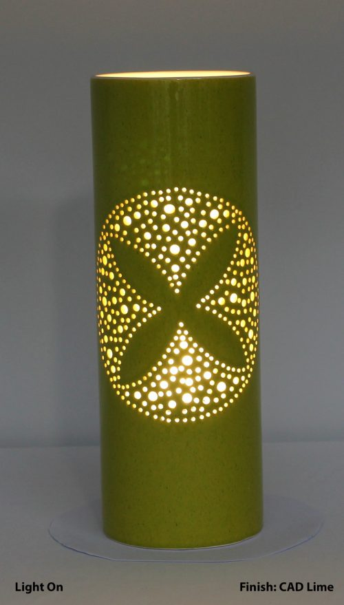 Frangipani Cylinder Table Lamp