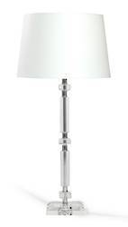 Charlotte Crystal Column  Table Lamp with Shade