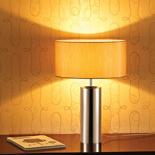 Classic Round Table Lamp with Shade
