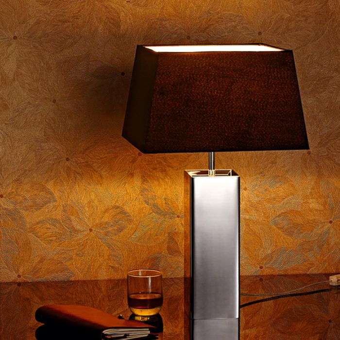 Classic Square Table Lamp with Shade
