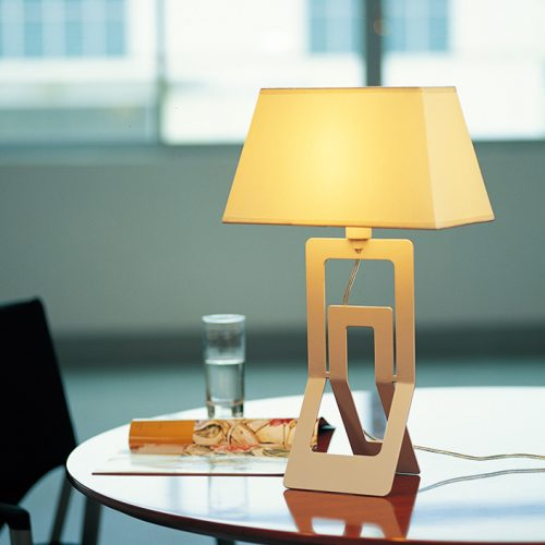 Clip  Table  Lamp with Shade