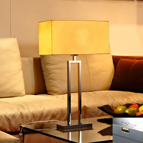 Cornerstone Table Lamp+USB with Shade