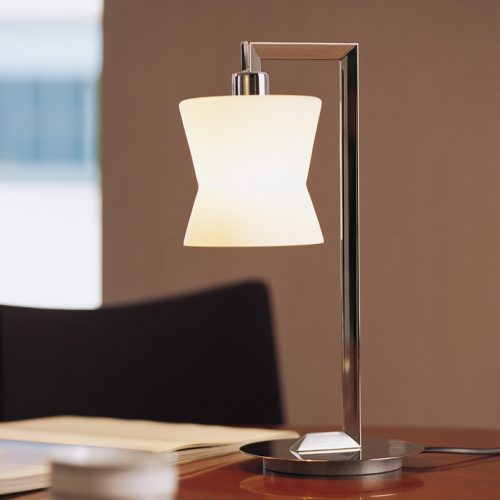 Corolla Table Lamp with Glass Shade