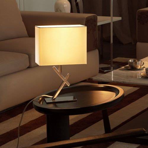 Cross Mini Table Lamp with Shade