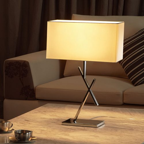 Cross Table Lamp with Shade