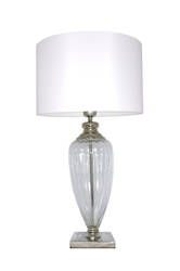 Evidence Table Lamp with White Shade
