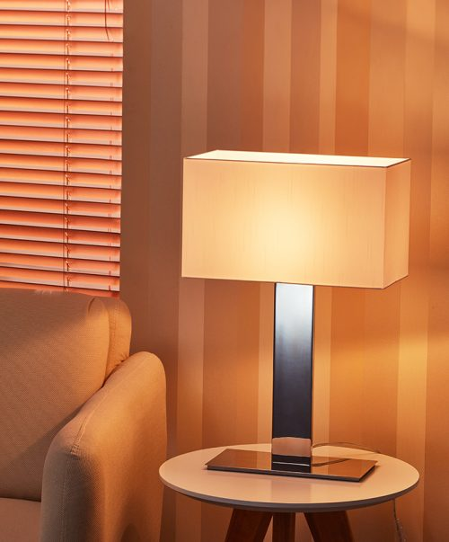 Flat Forgiving Table Lamp with Shade