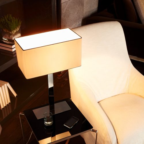 Flat Table Lamp  with Shade