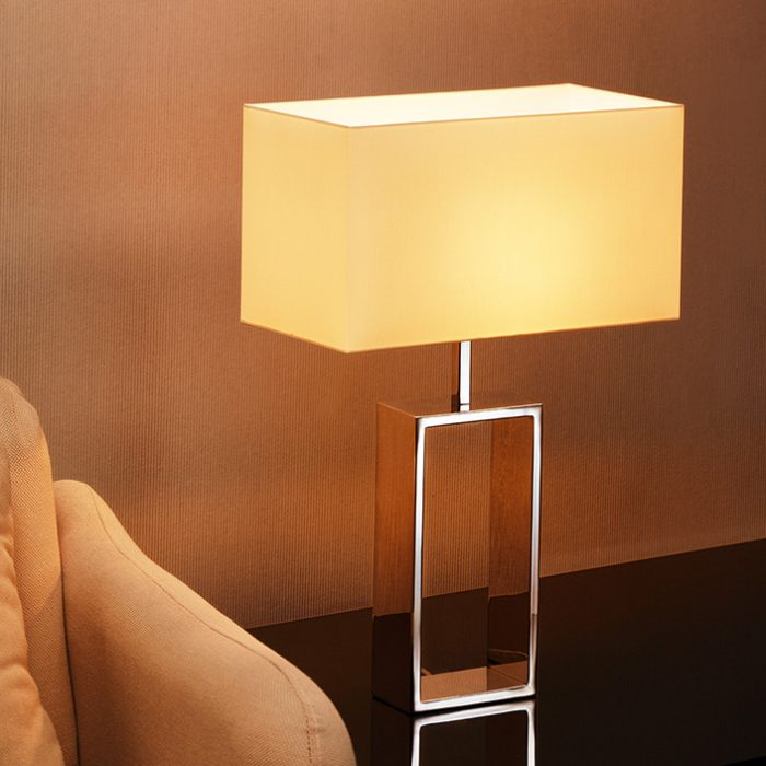 Frame Oblong Big Table Lamp with Shade