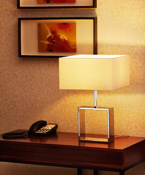 Frame Square Big Table Lamp with Shade