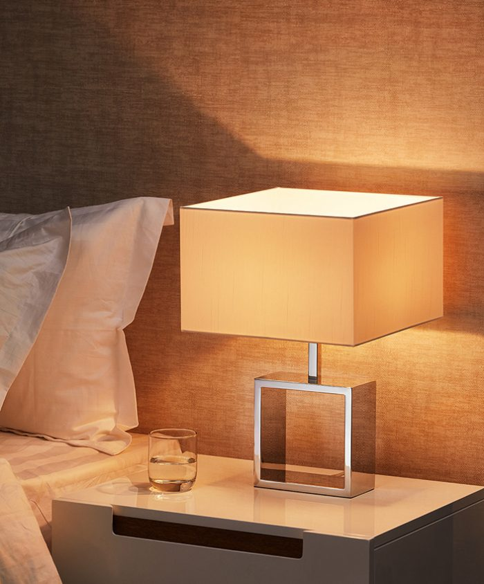 Frame Square Small Table Lamp with Shade