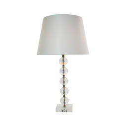 Krista Table Lamp - 5 Crystal Faceted Clear Ball