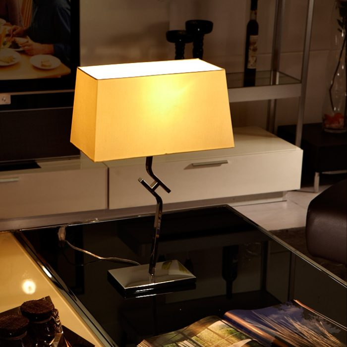 Logic Table Lamp with Shade