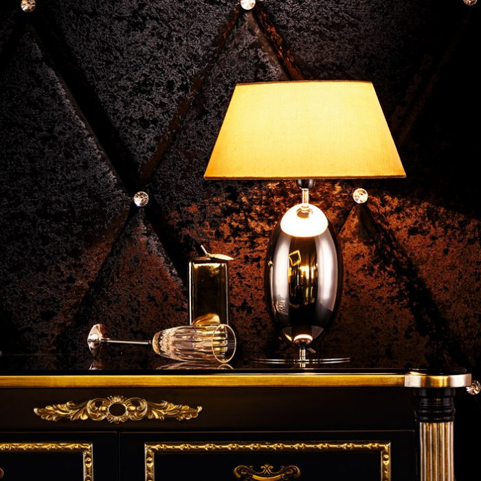 Olive Table Lamp with Shade