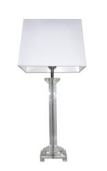 Opera  Glass Table lamp with Tapered Square shade