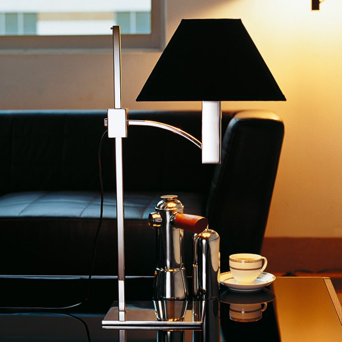 Pyramid Table Lamp with Shade - Adjustable