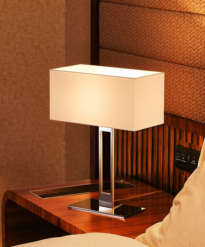 Slim Low Table Lamp with Shade