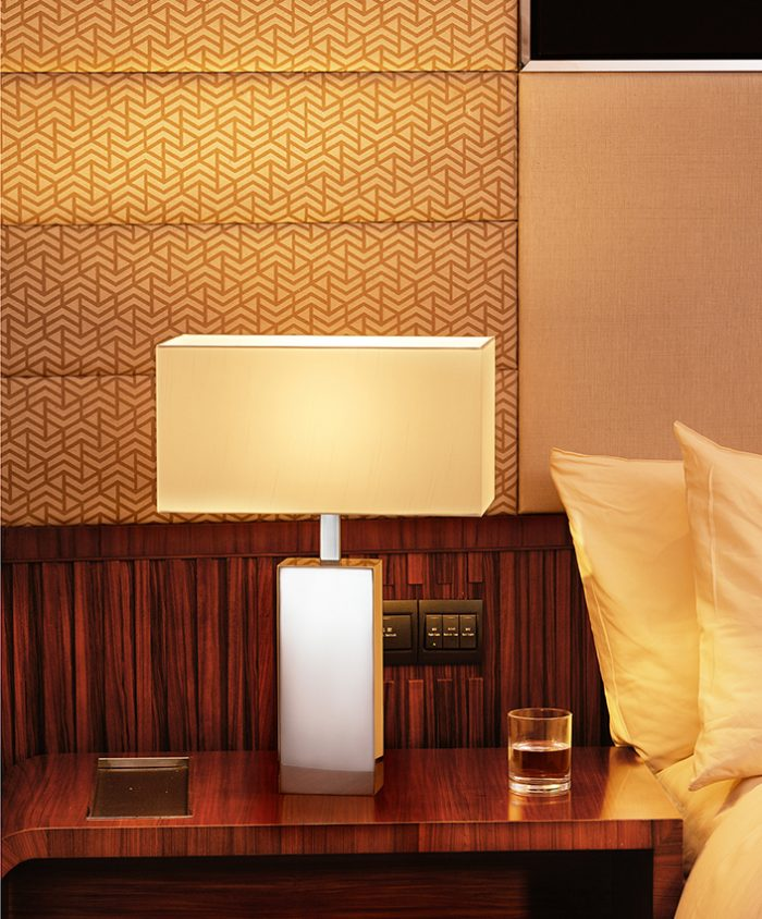 Solid  Oblong Small Table Lamp with Shade
