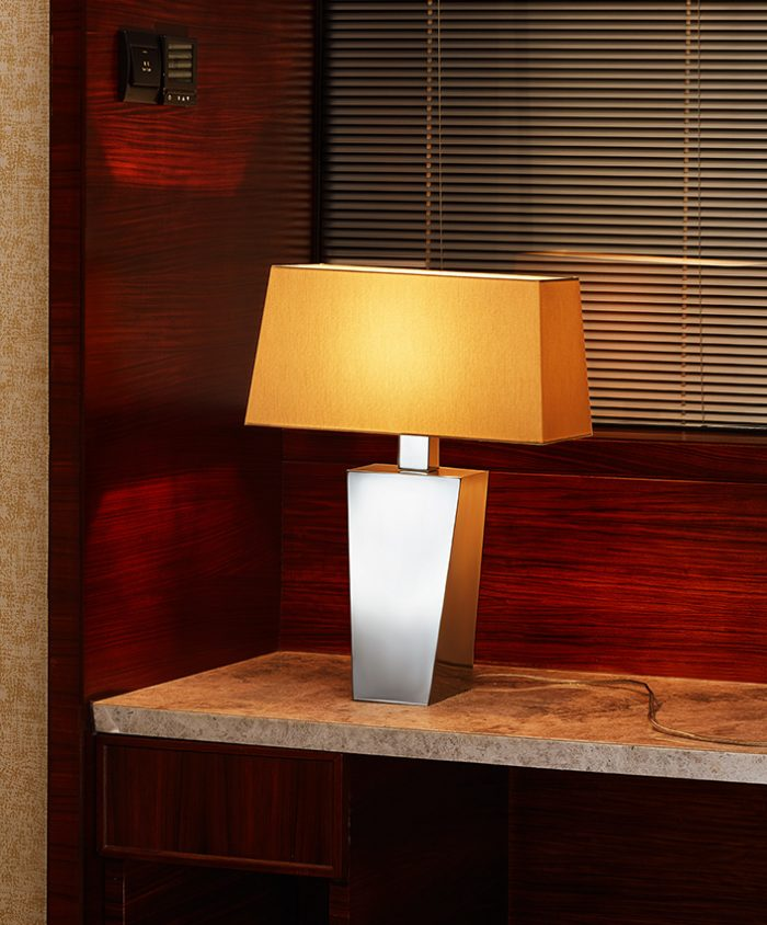Solid Symmetry Big Table Lamp with Shade