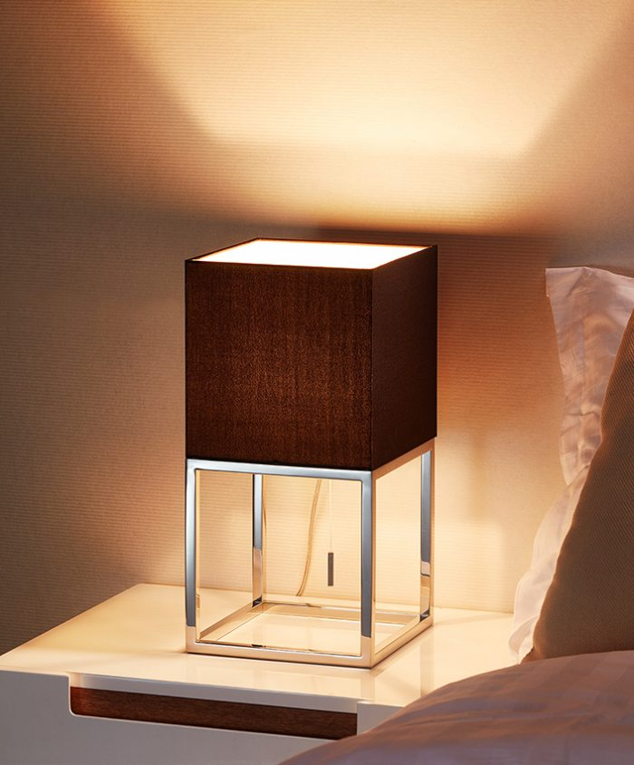 Space  Square Table Lamp with Shade