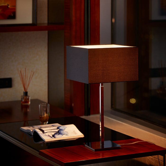 Spruce Table Lamp with Shade