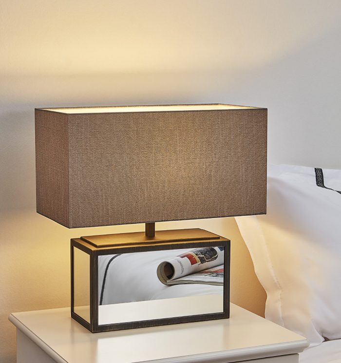 Time Oblong Table Lamp with Shade