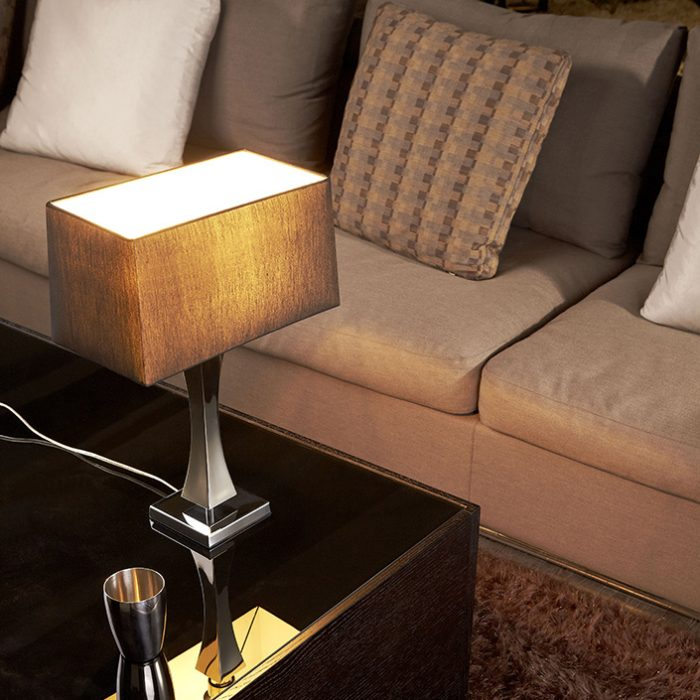 Tower Table Lamp with Shade