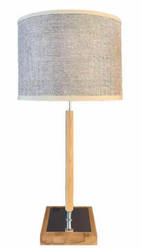 Valencia Mini Table Lamp with Brown Parchment Shade