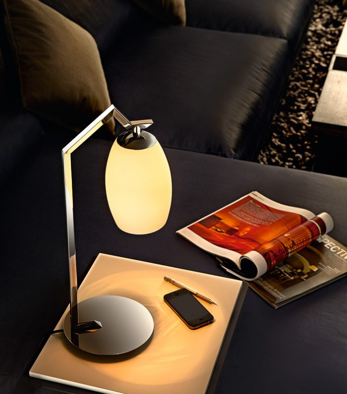 Victoria Table Lamp with  Glass  Shade