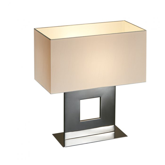 Windows Small Table Lamp with Shade