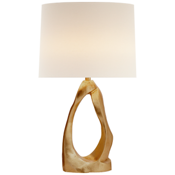 Cannes Table Lamp in Gild with Linen Shade