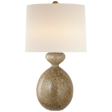 Gannet Table Lamp in Marbled Sienna with Linen Shade
