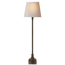 Cawdor Buffet Lamp in Aged Iron with Natural Paper Shade