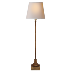 Cawdor Buffet Lamp in Gilded Iron with Natural Paper Shade