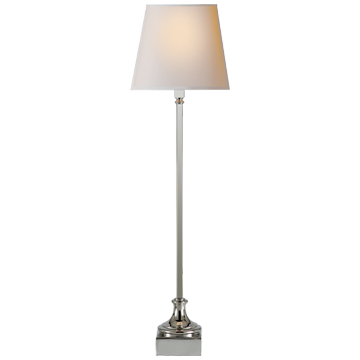 Cawdor Buffet Lamp in Polished Nickel with Natural Paper Shade