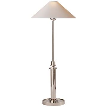 Hargett Buffet Lamp in Polished Nickel with Natural Paper Shade