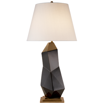 Bayliss Table Lamp in Black with Linen Shade