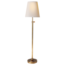 Bryant Table Lamp in Hand-Rubbed Antique Brass with Natural Paper Shade