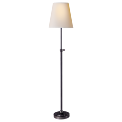 Bryant Table Lamp in Hand-Rubbed Bronze with Natural Paper Shade
