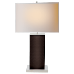 Dixon Tall Table Lamp in Espresso Leather