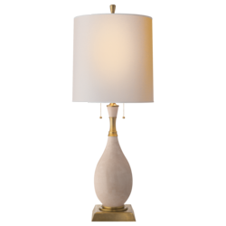 Tamaso Small Table Lamp in Tea Stain Porcelain