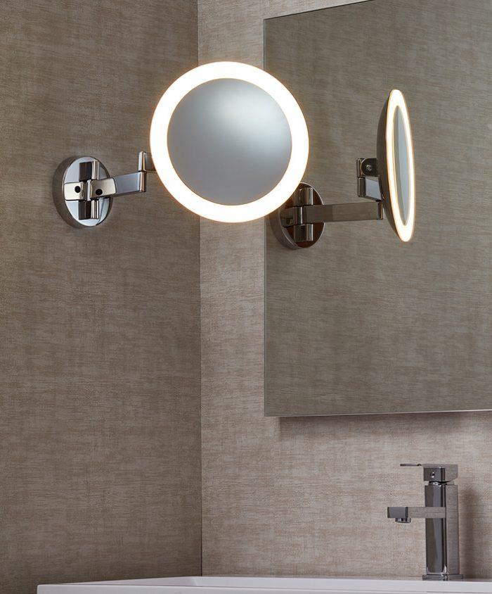 Beauty Long Round Mirror Lighting