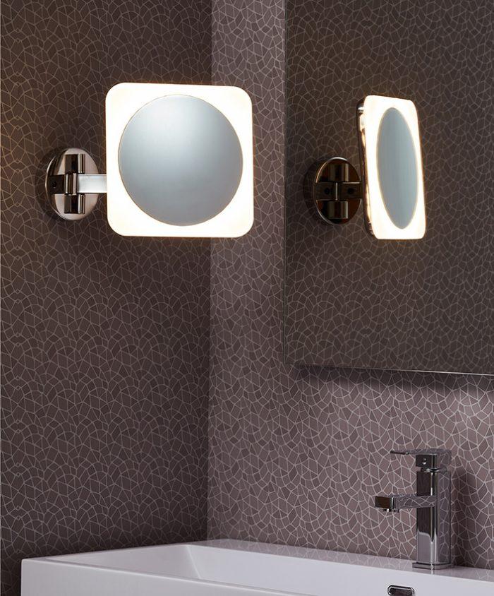 Beauty Short Square Mirror Lighting