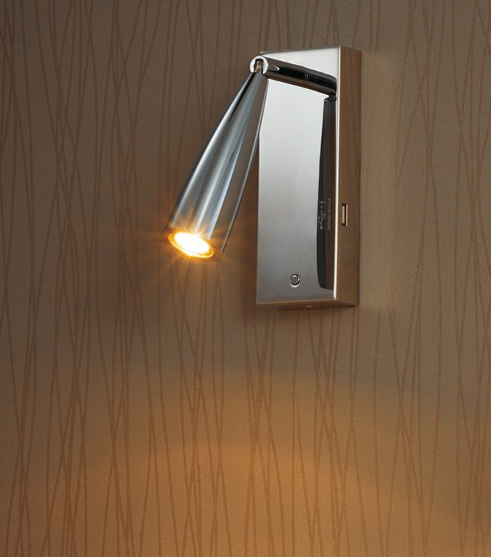 Bell  Large Arc Wall Lamp + USB
