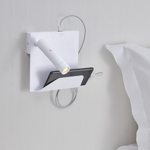 Dida Mobile Support Wall Lamp + USB -Left
