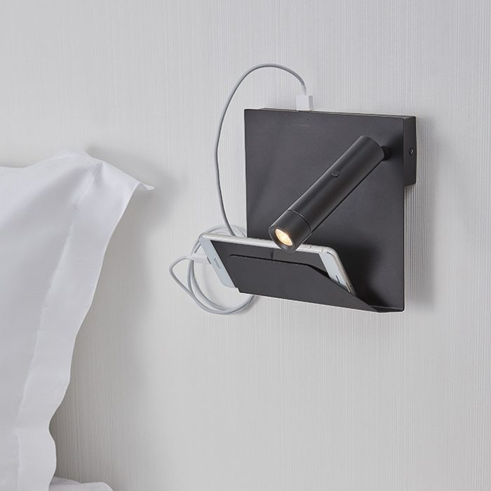 Dida Mobile Support Wall Lamp + USB -Right