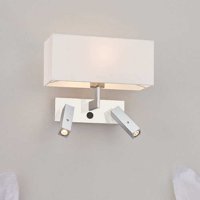 Flat Double Wall Lamp with Shade