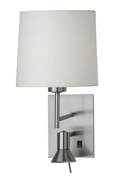 Gemini 2 Wall Light with frost shade